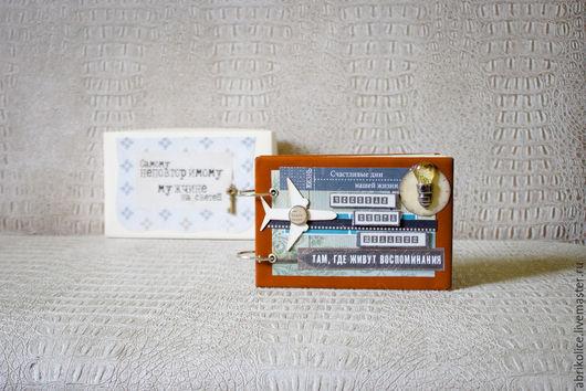 Подарки для мужчин, ручной работы. Ярмарка Мастеров - ручная работа. Купить Чековая Книга Желаний в кожаной обложке. Handmade. Коричневый