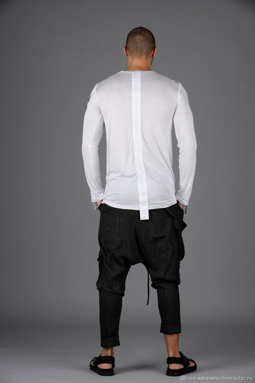 Мужская блуза из тонкого итальянского хлопка и эластана, Кофты, София,  Фото №1