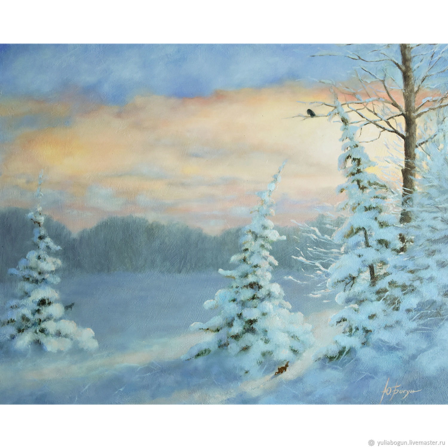 Painting winter landscape ' Winter evening', Pictures, Belorechensk,  Фото №1
