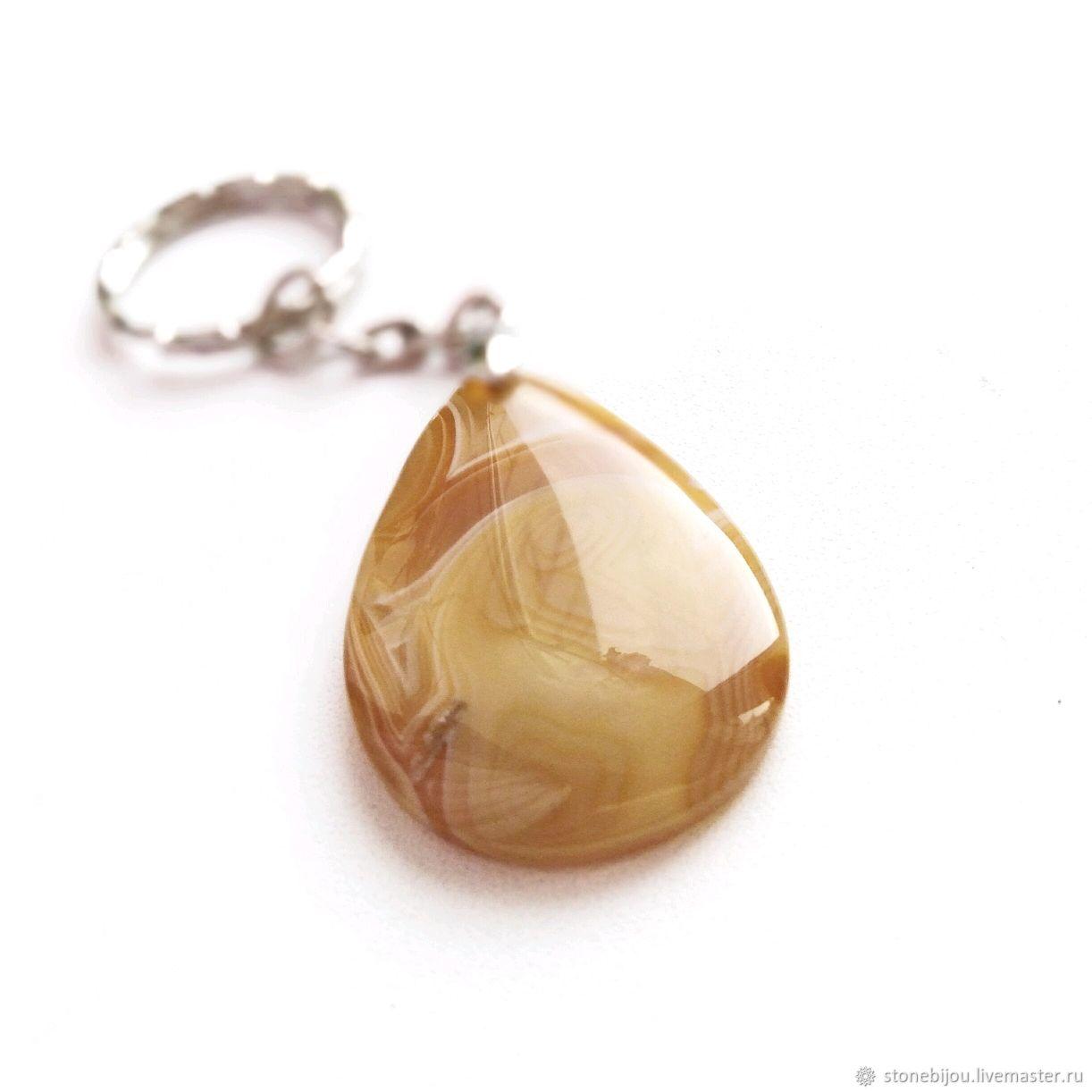 КАРАМЕЛЬ Брелок из агата Брелок с агатом Брелок с натуральным камнем