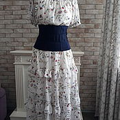 Одежда handmade. Livemaster - original item dresses: Flower Meadow dress with corset. Handmade.