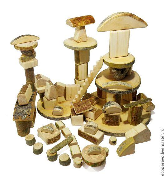 """Развивающие игрушки ручной работы. Ярмарка Мастеров - ручная работа. Купить Деревянный конструктор """"Лесное царство"""" 70 деталей. Handmade."""