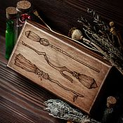 Для дома и интерьера handmade. Livemaster - original item Box Three broomsticks.. Handmade.