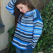 """Одежда ручной работы. Ярмарка Мастеров - ручная работа Женский свитер """"ДЖИНС"""". Handmade."""