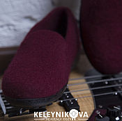 Обувь ручной работы handmade. Livemaster - original item Felted shoes Burgundy. Handmade.