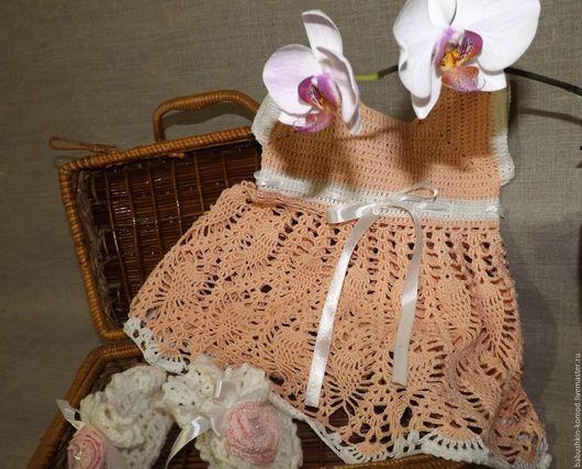 Одежда для девочек, ручной работы. Ярмарка Мастеров - ручная работа. Купить Детское вязаное платье ДП1-67. Handmade.