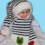 Аксессуары ручной работы. Ярмарка Мастеров - ручная работа шапка-буратинка и шарфик. Handmade.