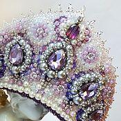 Украшения handmade. Livemaster - original item Purple headpiece with rhinestones and pearls. Handmade.