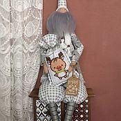 Куклы Тильда ручной работы. Ярмарка Мастеров - ручная работа Санта Клаус. Серый.. Handmade.