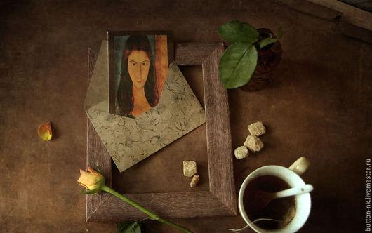 Фотокартины ручной работы. Ярмарка Мастеров - ручная работа. Купить Натюрморт фото, картина За чашкой чая с Модильяни. Handmade.