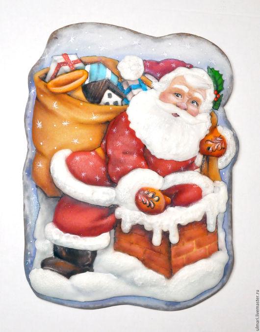 Кулинарные сувениры ручной работы. Ярмарка Мастеров - ручная работа. Купить Имбирный пряник Новогодняя  пряничная открытка. Handmade.