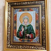 Картины и панно handmade. Livemaster - original item Icon of St. Xenia of Petersburg. Handmade.
