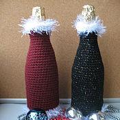 Подарки к праздникам ручной работы. Ярмарка Мастеров - ручная работа Новогодний наряд для бутылки. Handmade.