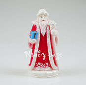 Материалы для творчества handmade. Livemaster - original item Silicone molds for soap Santa Claus with gift. Handmade.