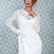 Одежда ручной работы. Ярмарка Мастеров - ручная работа Белое кружевное платье №14. Handmade.