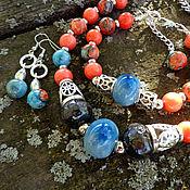 Комплект украшений Гавайские острова (керамика, коралл)