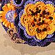 """Броши ручной работы. Брошь """"Янтарный вечер"""". Эльвира Ташбулатова. Ярмарка Мастеров. Желтые цветы, осень, хлопок 100%"""