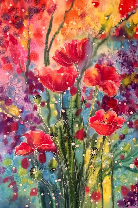 Картины цветов ручной работы. Ярмарка Мастеров - ручная работа. Купить Маковая душа... Handmade. Комбинированный, Картины и панно