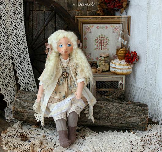 Коллекционные куклы ручной работы. Ярмарка Мастеров - ручная работа. Купить Моя нежность интерьерная текстильная коллекционная кукла. Handmade.