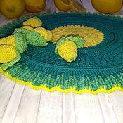 """Салфетки ручной работы. Ярмарка Мастеров - ручная работа салфетка """"лимончики"""". Handmade."""