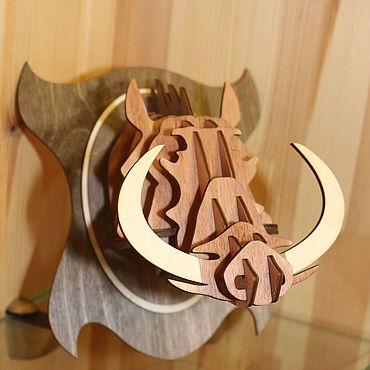 Для дома и интерьера ручной работы. Ярмарка Мастеров - ручная работа Голова кабана. Handmade.