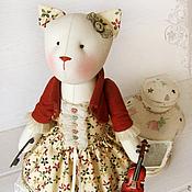 """Куклы и игрушки ручной работы. Ярмарка Мастеров - ручная работа Кошка """"Не тревожь мне душу, скрипка"""". Handmade."""