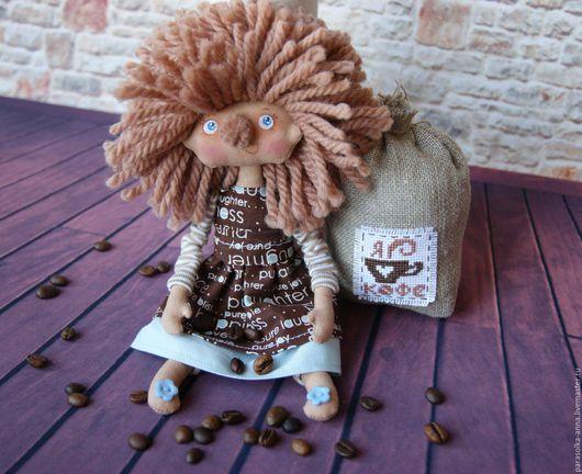 Коллекционные куклы ручной работы. Ярмарка Мастеров - ручная работа. Купить Кофейная гномочка. Handmade. Коричневый, гномик, подарок