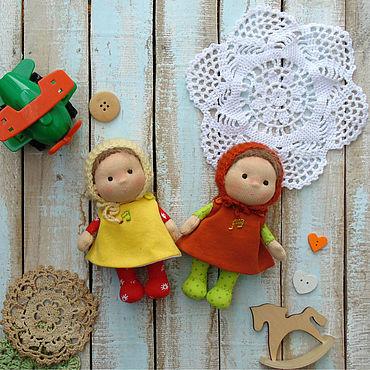 Куклы и игрушки ручной работы. Ярмарка Мастеров - ручная работа Вальдорфские куклы Карамельки  13 см.. Handmade.