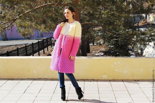 """Верхняя одежда ручной работы. Ярмарка Мастеров - ручная работа. Купить Пальто """"Пузырьки"""". Handmade. Разноцветный, кардиган ручной работы"""