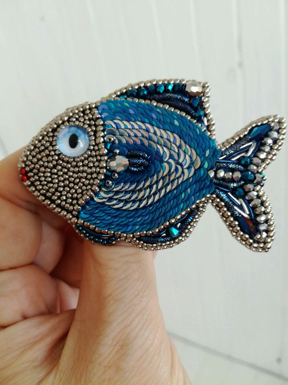 Брошь рыба своими руками 7