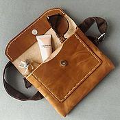 Поясная сумка ручной работы. Ярмарка Мастеров - ручная работа Поясная сумка Bassi (натуральная кожа). Handmade.