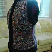 Одежда ручной работы. Ярмарка Мастеров - ручная работа Жилет из Павлопосадкого платка. Handmade.
