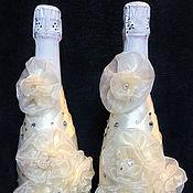"""Свадебный салон ручной работы. Ярмарка Мастеров - ручная работа Свадебные бутылки """"Безе"""". Handmade."""