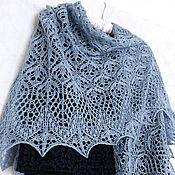 Аксессуары handmade. Livemaster - original item Openwork shawl, knitted shawl knitting Spring Flowers. Handmade.