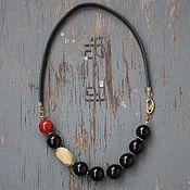 Украшения handmade. Livemaster - original item Beads Accent agate and coral. Handmade.