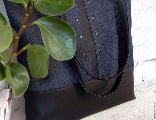 Женские сумки ручной работы. Ярмарка Мастеров - ручная работа. Купить Сумка джинсовая. Handmade. Джинсовая сумка, сумка прямоугольная