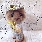Куклы и игрушки handmade. Livemaster - original item Teddy Animals: Lyosha the lion cub. Handmade.