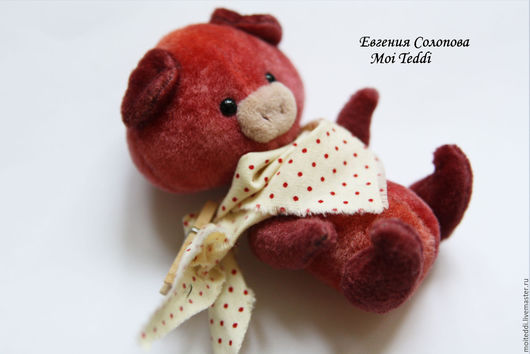 Мишки Тедди ручной работы. Ярмарка Мастеров - ручная работа. Купить хрю хрю хрю. Handmade. Рыжий, вискоза антик