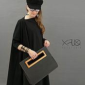 Сумки и аксессуары handmade. Livemaster - original item KRAFT-TEX №1.  Washable Kraft paper bag with wooden handles.. Handmade.