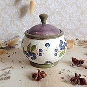 Для дома и интерьера ручной работы. Ярмарка Мастеров - ручная работа Черничное лето - баночка для кухни. Handmade.