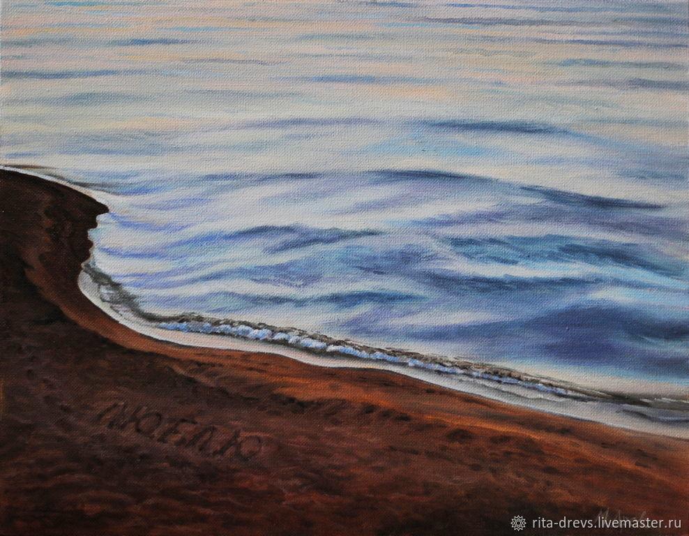 Landscapes handmade. Livemaster - handmade. Buy oil painting Sea. Love.Twilight, picture, gift for teacher's day