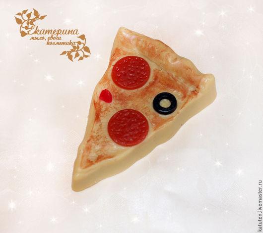 Мыло ручной работы. Ярмарка Мастеров - ручная работа. Купить Мыло Пицца. Handmade. Комбинированный, мыло ручной работы