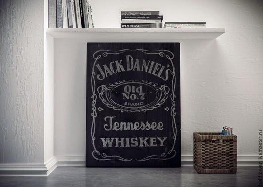 """Интерьерные слова ручной работы. Ярмарка Мастеров - ручная работа. Купить Интерьерная вывеска """"Jack Daniels-2 Gray"""". Handmade."""