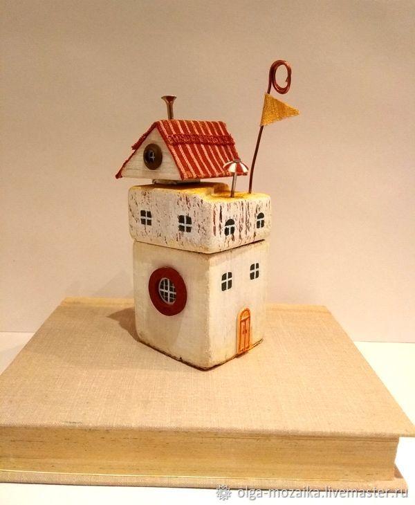 Домик Коктейль на крыше, держатель для визиток и записок, Визитницы, Мытищи, Фото №1
