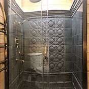 handmade. Livemaster - original item Tiles in the shower cabin decoration. Handmade.