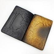 Канцелярские товары handmade. Livemaster - original item Leather passport cover, passport cover, gift to woman. Handmade.