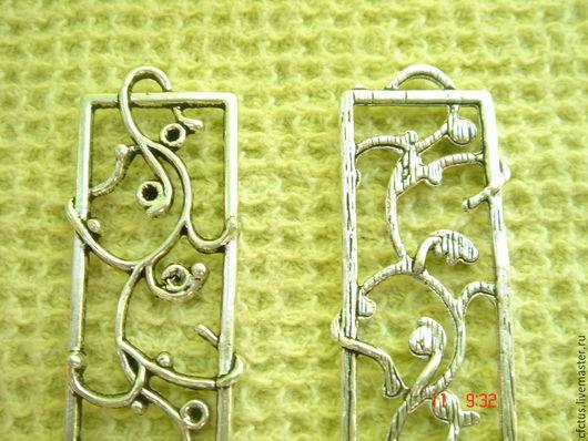 Для украшений ручной работы. Ярмарка Мастеров - ручная работа. Купить Коннектор-подвеска Восточные 39 х 15 мм тибетское серебро. Handmade.