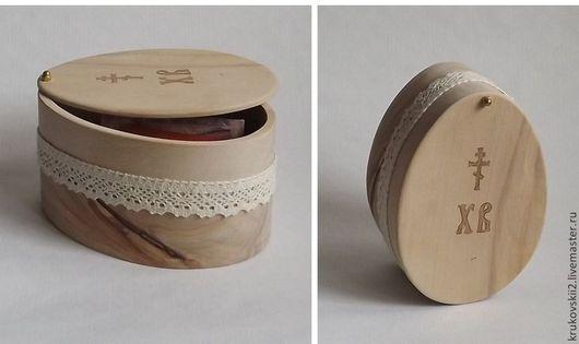 Шкатулки ручной работы. Ярмарка Мастеров - ручная работа. Купить Сувенирная пасхальная шкатулка. Handmade. Бежевый, Пасха, упаковка для яиц