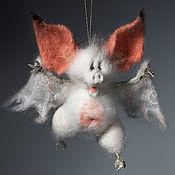 Войлочная игрушка ручной работы. Ярмарка Мастеров - ручная работа Летучая Мышь. Валяная игрушка милый Дракула.. Handmade.