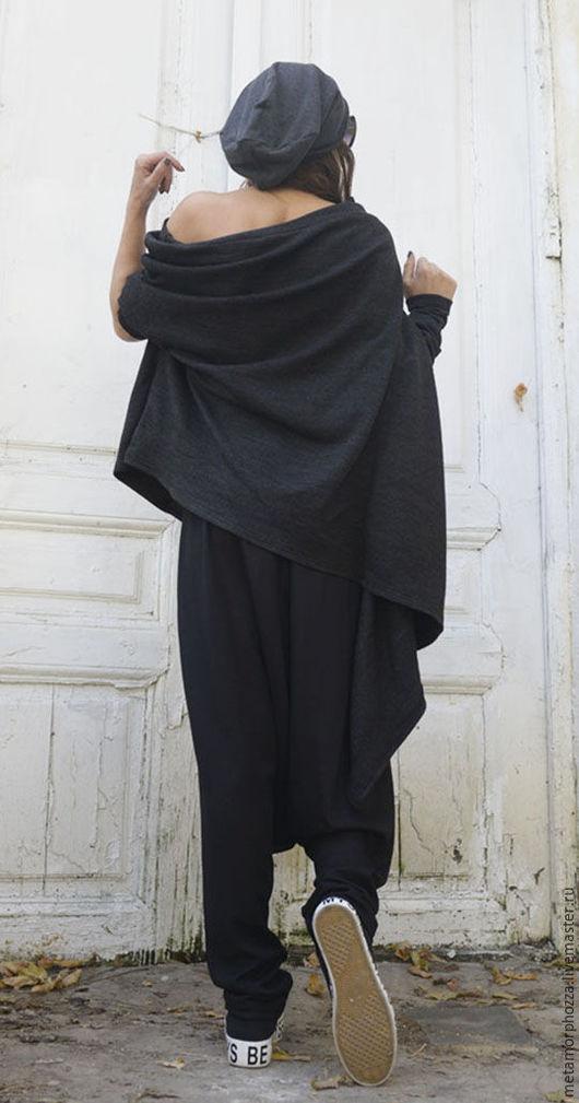 Кофты и свитера ручной работы. Ярмарка Мастеров - ручная работа. Купить Серый свитер, серая кофта. Handmade. Длинная туника